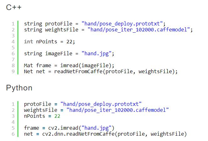 OpenCV深度学习手部关键点检测(手势识别)代码示例– 我爱计算机视觉